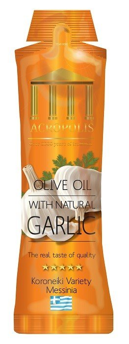 Acropolis Extra Virgin Olive Oil With Natural GARLIC 10ml Sachet