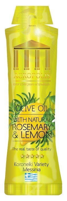 Acropolis Extra Virgin Olive Oil With Natural ROSEMARY & LEMON 10ml Sachet