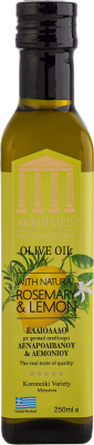 Acropolis Extra Virgin Olive Oil With Natural ROSEMARY & LEMON 250ml